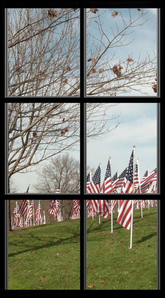 Photograph - 2 Of 6 Naperville Healing Field Of Honor At Rotary Hill Window by Michael Bessler