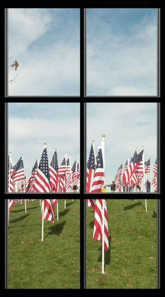 Photograph - 3 Of 6 Naperville Healing Field Of Honor At Rotary Hill Window by Michael Bessler