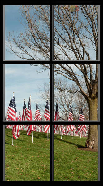 Photograph - 5 Of 6 Naperville Healing Field Of Honor At Rotary Hill Window by Michael Bessler