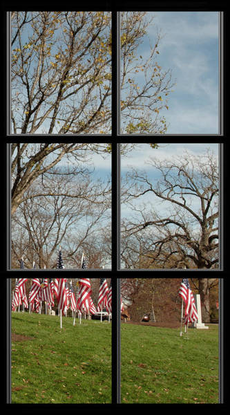 Photograph - 6 Of 6 Naperville Healing Field Of Honor At Rotary Hill Window by Michael Bessler