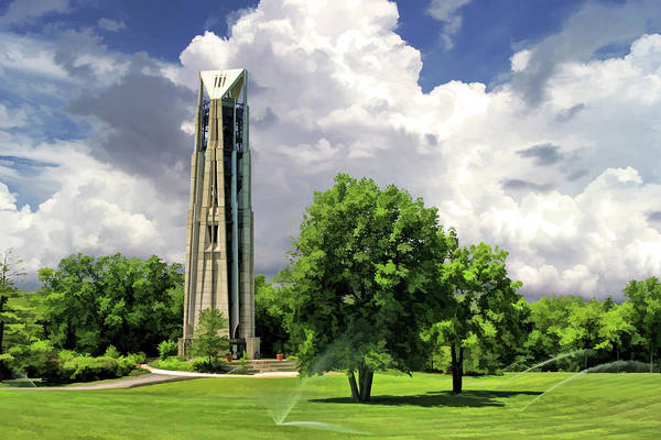 Painting - Naperville Millennium Carillon by Christopher Arndt