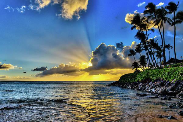 Napili Bay Photograph - Napili Bay Sunset by Dave Fish