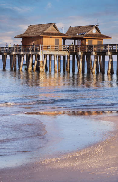 Photograph - Naples Beach Pier by Kim Hojnacki