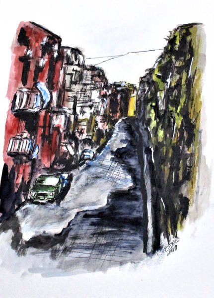 Painting - Naples City Street by Clyde J Kell