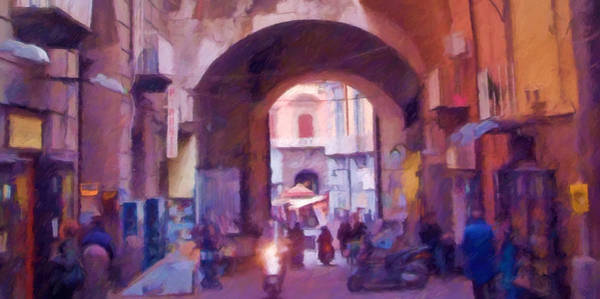 Painting - Naples Italy Impression by Lutz Baar