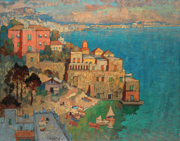 Russian River Painting - Naples by Konstantin Ivanovich Gorbatov
