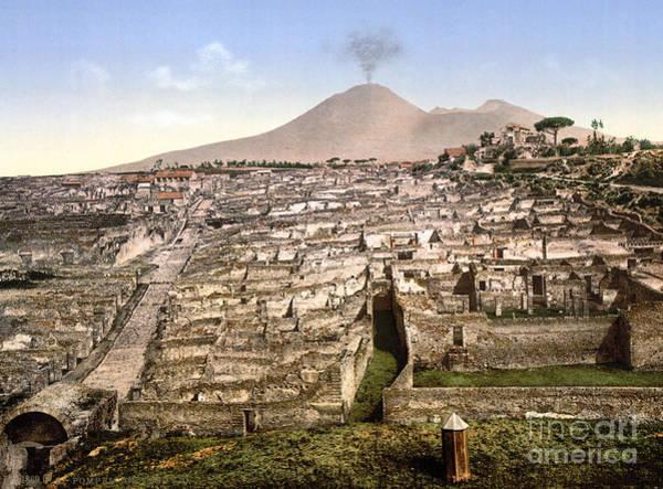 Photograph - Naples: Mt. Vesuvius by Granger