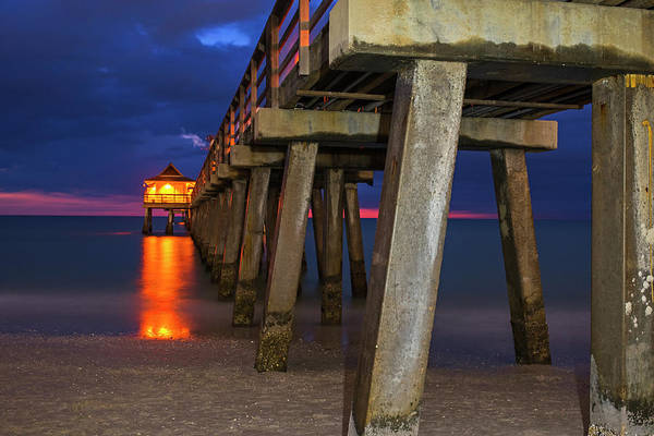 Photograph - Naples Pier At Blue Hour Naples Florida by Toby McGuire