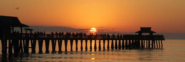 Naples Pier At Sunset Art Print