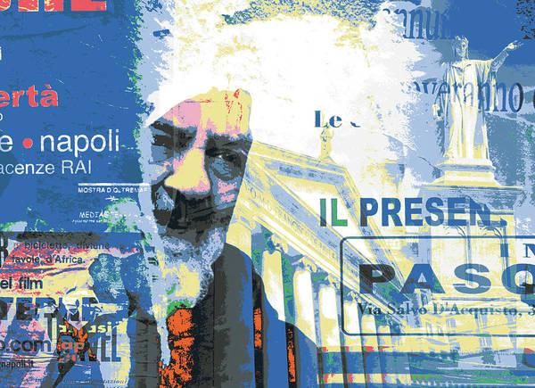 Alitalia Wall Art - Mixed Media - Naples by Shay Culligan