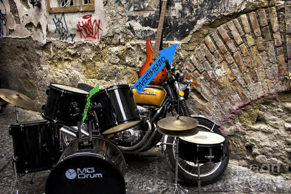 Wall Art - Photograph - Naples Street Music by John Rizzuto