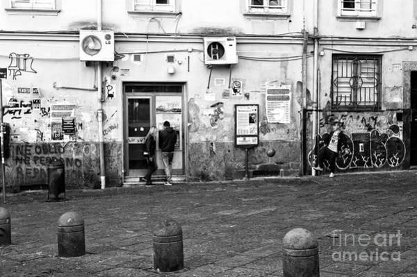 Italian Football Wall Art - Photograph - Naples Street Scene by John Rizzuto