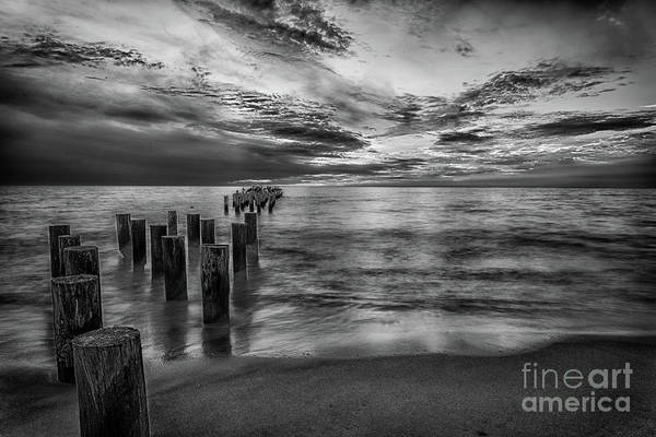 Photograph - Naples Sunset In Black And White by Paul Quinn