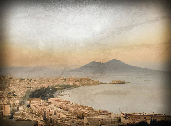 Photograph - Naples, Italy - Vesuvius And The Castel Dell'ovo by Mark Forte