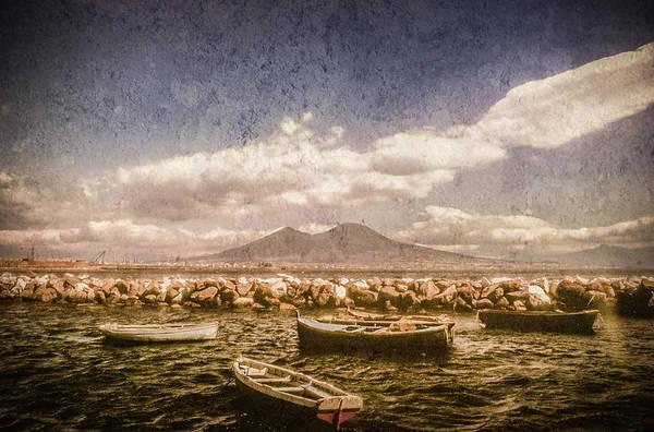 Photograph - Naples, Italy - Vesuvius From Marechiaro by Mark Forte