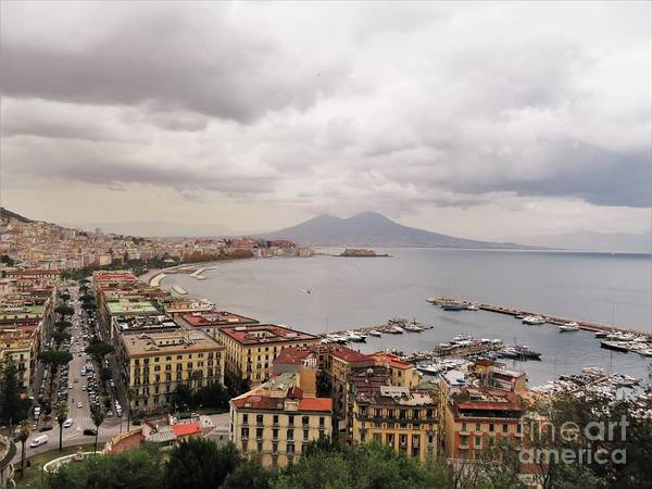 Photograph - Naples With Vesuvius  by Laurie Morgan