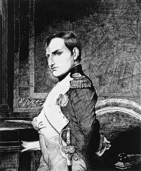 Drawing - Napolean Bonaparte by David Lloyd Glover