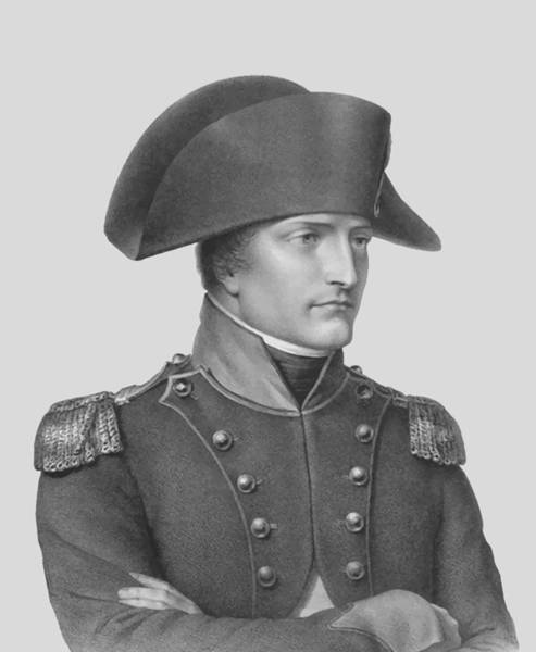 Napoleon Wall Art - Mixed Media - Napoleon Bonaparte In Uniform  by War Is Hell Store