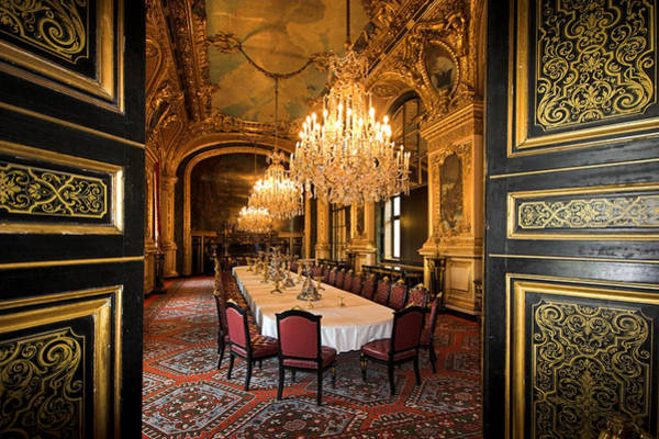 Photograph - Napoleon Bonaparte's Dinning Room At The Louvre Museum Paris by Pierre Leclerc Photography