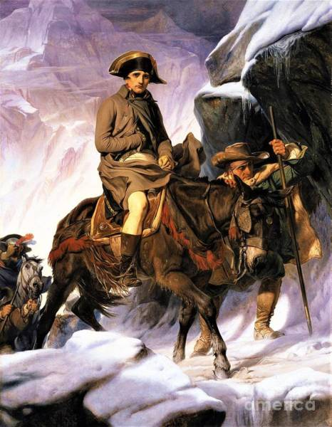 Wall Art - Painting - Napoleon Crossing Alps by Pg Reproductions