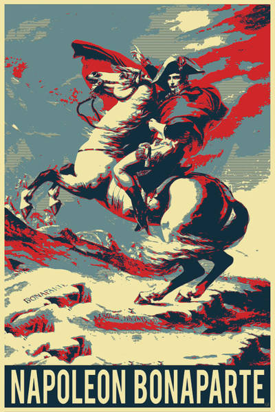 Digital Art - Napoleon Crossing The Alps - Napoleon At The Saint-bernard Pass Revisited by Serge Averbukh