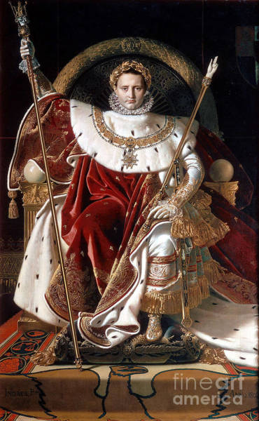Crown Imperial Painting - Napoleon I On His Imperial Throne  by MotionAge Designs