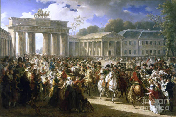 Painting - Napoleon In Berlin by Celestial Images