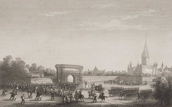 Entry Drawing - Napoleon S Triumphal Entry Into Milan by Vintage Design Pics