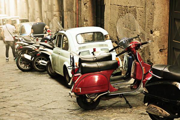 Photograph - Napoli Parking by Steve Natale