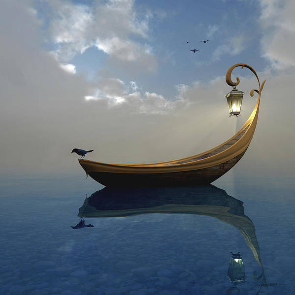 Boats Digital Art - Narcissism by Cynthia Decker