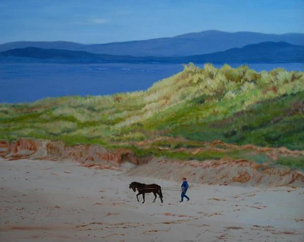 Donegal Painting - Narin, County Donegal, Ireland by Jeannie Allerton