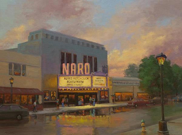 Norfolk Va Wall Art - Painting - Naro Cinema Norfolk Va by Marianne Kuhn