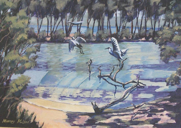 Painting - Narrabeen Lakes 2 by Murray McLeod