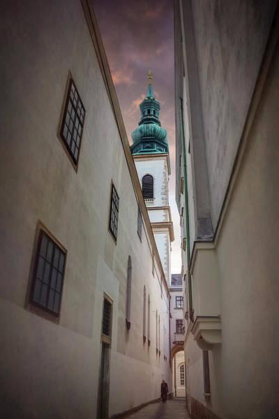 Narrow Alley In Vienna Old Town Austria  Art Print