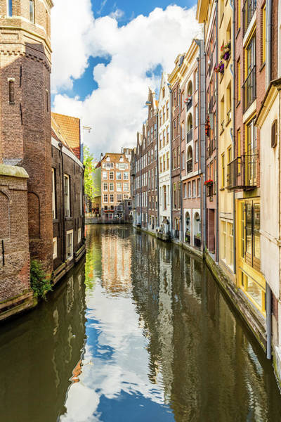 Photograph - Narrow Amsterdam Canal by Mihai Andritoiu