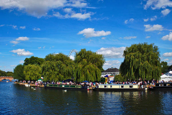 Photograph - Narrow Boats At Stratford-upon-avon by Jeremy Hayden