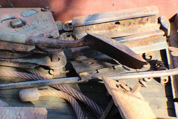 Photograph - Narrow Gauge Railroad Scrap by John Mathews