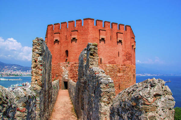 Photograph - Narrow Path To The Red Tower In Alanya by Sun Travels