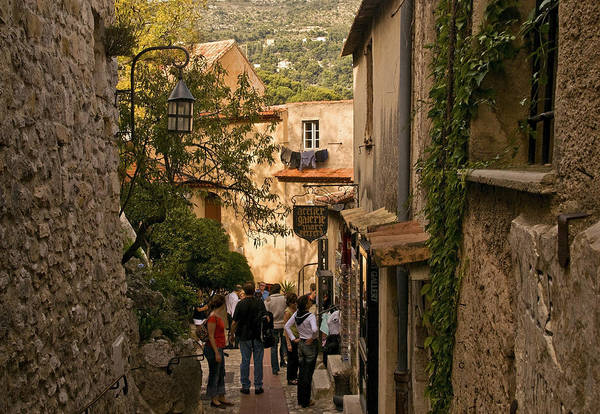Photograph - Narrow Steet In Eze by Steven Sparks