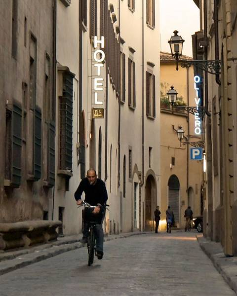 Photograph - Narrow Street In Florence by Patricia Strand