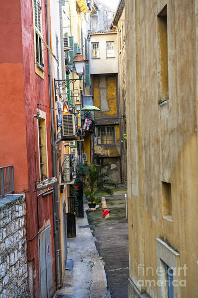 Wall Art - Photograph - Narrow Street In Old Nice by Elena Elisseeva