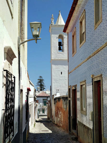 Photograph - Narrow Street In Tavira - Portugal by Barry O Carroll