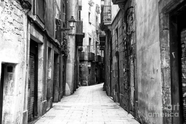 Photograph - Narrow Street In The Barcelona Gothic Quarter by John Rizzuto