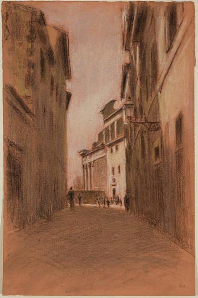 Narrow Street Painting - Narrow Street by MotionAge Designs