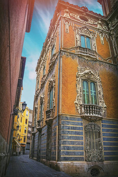 Ceramics Wall Art - Photograph - Narrow Street Valencia Spain  by Carol Japp