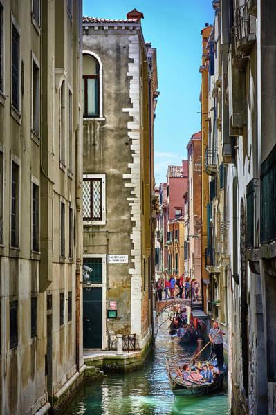 Photograph - Narrow Water Roads In Venice, Italy by Fine Art Photography Prints By Eduardo Accorinti