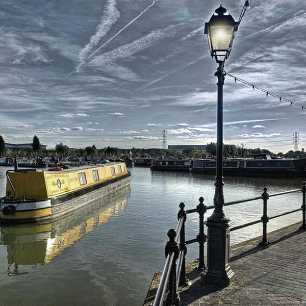 Sky Photograph - Narrowboat Idly Dan At Barton Marina On by John Edwards