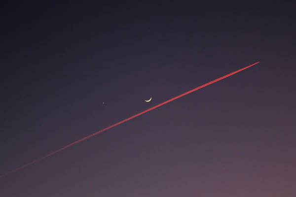 Minimalist Photograph - Narrowly Missed The Moon by Jasna Buncic