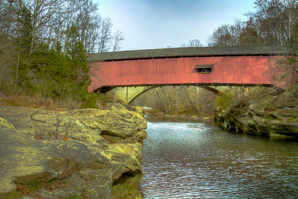 Photograph - Narrows Covered Bridge  by Jack R Perry