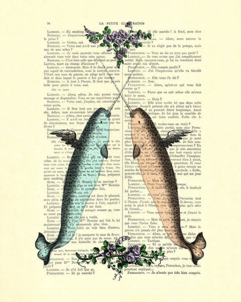 Wall Art - Digital Art - Narwhals In Love by Madame Memento